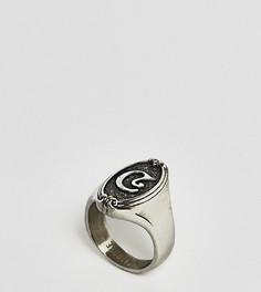 Кольцо с буквой С в готическом стиле Regal Rose - Серебряный