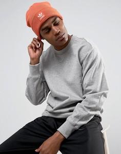Оранжевая шапка-бини с трилистником adidas Originals BR2630 - Оранжевый