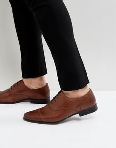 Коричневые кожаные оксфордские туфли River Island - Коричневый