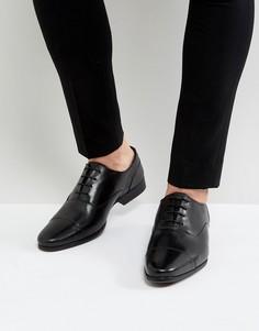 Черные кожаные оксфордские туфли River Island - Черный