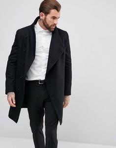 Пальто с асимметричной застежкой на пуговицы Religion - Черный