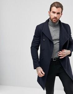 Пальто с асимметричной застежкой на пуговицы Religion - Темно-синий