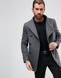 Короткое пальто с асимметрично расположенными пуговицами Religion - Серый