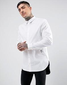 Длинная рубашка скинни с контрастным низом Religion - Белый