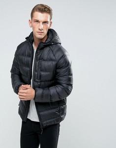 Легкая дутая куртка с капюшоном Bellfield - Черный