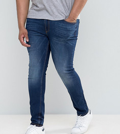 Темные джинсы скинни River Island PLUS - Синий