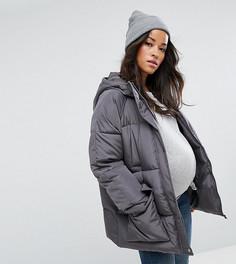 Дутая куртка с карманами ASOS MATERNITY - Серый