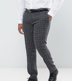 Синие зауженные брюки в клетку Gianni Feraud PLUS - Синий