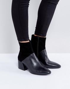 Черные кожаные ботильоны на каблуке Vagabond Olivia - Черный