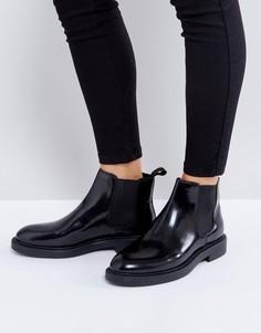 Черные полированные кожаные ботинки челси Vagabond Alex - Черный