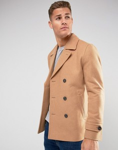 Полушерстяное пальто‑бушлат ASOS - Рыжий