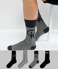 Подарочный набор с 4 парами носков Calvin Klein - Мульти