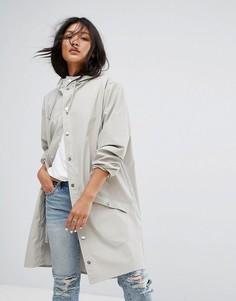 Длинная непромокаемая куртка Rains - Белый