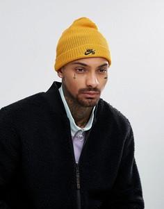 Желтая шапка-бини Nike SB 628684-716 - Желтый