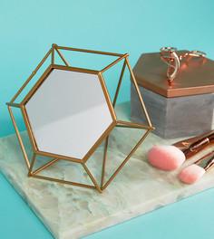 Шестигранное зеркало с геометрической подставкой Mimo - Мульти