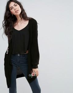 Кардиган с цветочной вышивкой Vero Moda - Черный