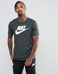 Серая меланжевая футболка Nike Legacy 875409-051 - Зеленый