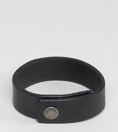 Черный кожаный браслет-манжета Diesel A-Great - Черный
