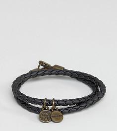 Черный кожаный браслет Diesel Alucy - Черный