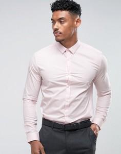Розовая узкая строгая рубашка River Island - Розовый
