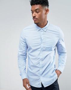 Рубашка слим в голубую полоску River Island - Синий