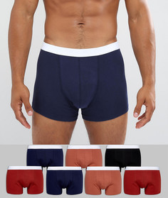 7 боксеров-брифов (черные, темно-синие) ASOS - Мульти