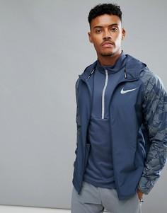 Темно-синяя куртка Nike Running Flash 858151-471 - Темно-синий