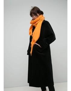 Мягчайший оранжевый шарф из вискозы ASOS - Желтый