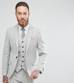 Пиджак скинни из харрис-твида Heart & Dagger - Серый