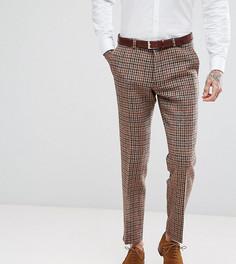 Облегающие брюки из твида в клетку Heart & Dagger - Коричневый