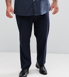 Темно-синие укороченные узкие брюки в строгом стиле ASOS PLUS - Темно-синий