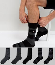 Подарочный набор из 5 пар носков Tommy Hilfiger - Черный