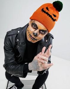 Шапки-бини в форме тыквы для Хэллоуина ASOS - Оранжевый