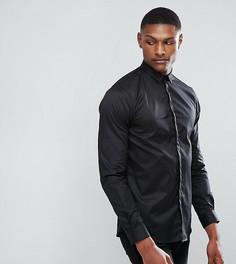 Приталенная рубашка с остроконечным воротником Noak TALL - Черный