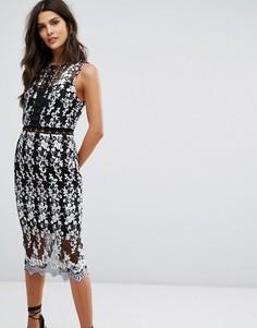 Кружевное облегающее платье 2 в 1 River Island - Мульти