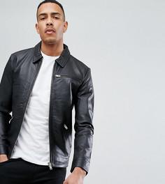 Кожаная куртка Selected Homme TALL - Черный