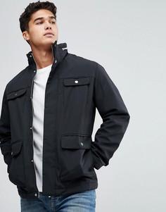 Дутая куртка с 4 карманами Jack & Jones Premium - Черный