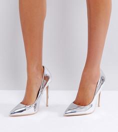 Туфли-лодочки на высоком каблуке Lost Ink - Серебряный