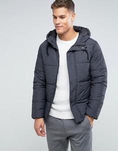 Дутая куртка с капюшоном Selected Homme - Серый