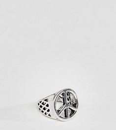 Серебристое массивное кольцо со знаком пацифик DesignB London эксклюзивно для ASOS - Серебряный