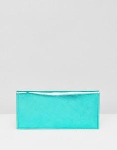 Кожаный кошелек ASOS - Зеленый
