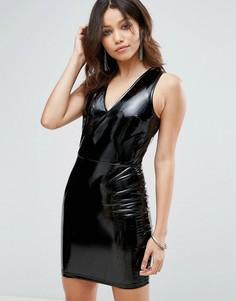 Платье из искусственной кожи Parisian - Черный
