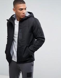 Дутая куртка с капюшоном Jack & Jones - Черный
