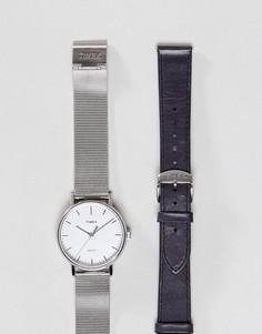 Часы со сменным ремешком Timex Fairfield - Серебряный