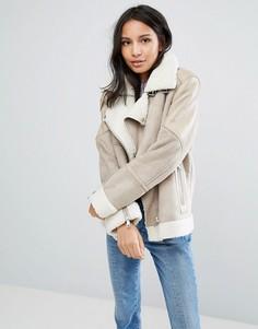 Куртка с отделкой Urbancode - Кремовый