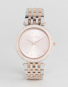 Часы со звездами на циферблате Michael Kors MK3726 Darci - Серебряный