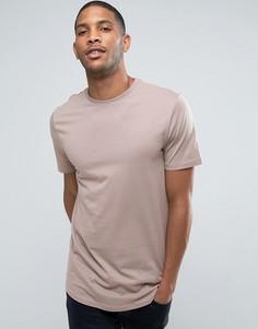 Светло-серая длинная футболка River Island - Светло-серый