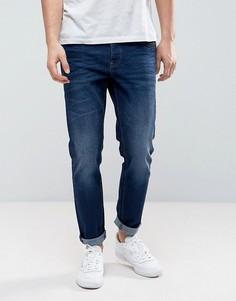 Синие выбеленные джинсы узкого кроя с суженными книзу штанинами River Island - Синий