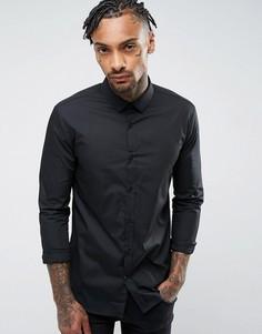 Черная облегающая рубашка River Island - Черный