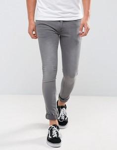Серые супероблегающие джинсы River Island - Серый